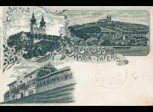 Österreich: 1903: AK Maria Taferl nach Wien