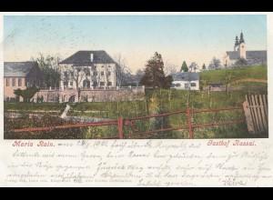 Österreich: 1901: Ansichtskarte Maria Rein