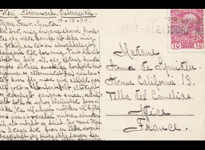 Österreich: 1909: AK Gleißdorf nach Frankreich