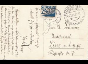 Österreich: 1933: Klosterneuburg nach Linz - Nachporto
