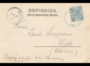 Österreich: 1900: Ansichtskarte Lloyd nach Melk