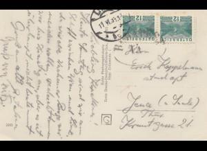 Österreich: 1933: AK Willendorf a.d.D mit Burg Aggstein nach Jena