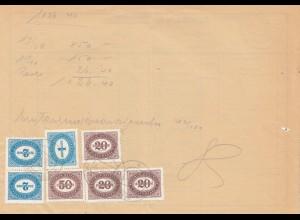Österreich: 1948: Zustellkarte für Zahlungsanweisungen, frankiert