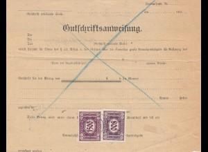 Österreich: 1925: Wels - Gutschriftsanweisung