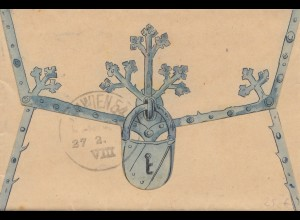 Österreich: 1909: Brief nach Wien