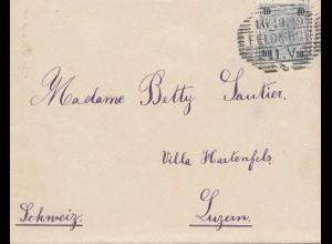 Österreich: 1899: Feldkirch nach Luzern