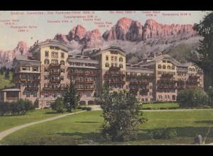 Österreich: 1914: AK Dolomitten/Meran nach Böhmen
