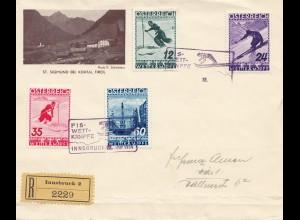 Österreich: 1936: Fis Wettkämpfe, Innsbruck mit Sonderstempel