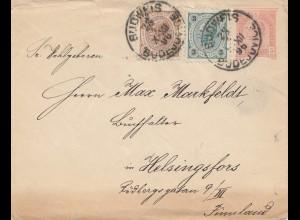 Österreich: 1896: Budweis nach Helsingfors - Finnland