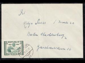Österreich: 1955: Trauerbrief Wien nach Berlin