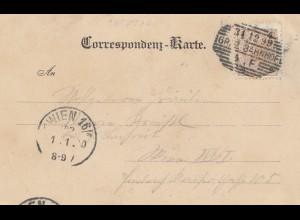 Österreich: 1899: AK Graz nach Wien