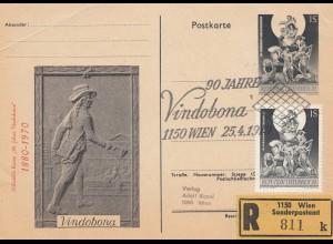 Österreich: 1970: Sonderstempel Vindobona - Sonderpostam auf Ganzsache