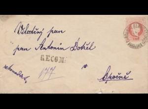 Österreich: Brief Pardubitz - Ganzsache
