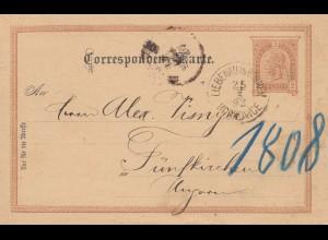 Österreich: 1893: Ganzsache Liebenau nach Ungarn