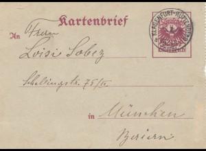 Österreich: 1928: Kartenbrief Bahnpost: Klagenfurt-Hüttenberg