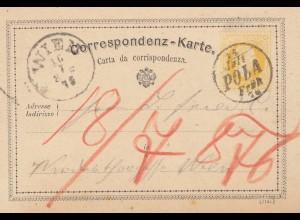 Österreich: 1876: Ganzsache - Wien