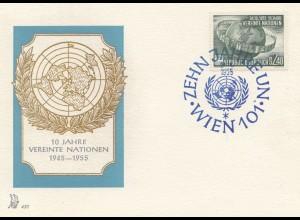 Österreich: 1955: Zehn Jahre UNO