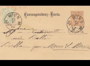 Österreich: 1885 Ganzsache von Wien