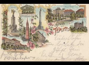 Österreich: 1898: Ansichtskarte Gruss aus Teplitz