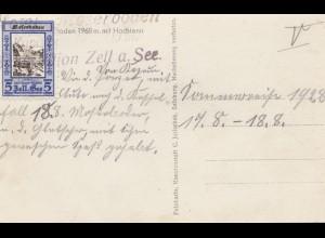 Österreich: 1928: Ansichtskarte Zell am See, Moserboden
