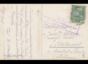 Österreich: 1915: Ansichtskarte Veldes, Laibach Zensur