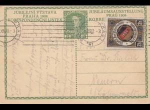 Österreich: 1908: Jubiläumsausstellung Prag-Neuern, Vignette Bund der Deutschen
