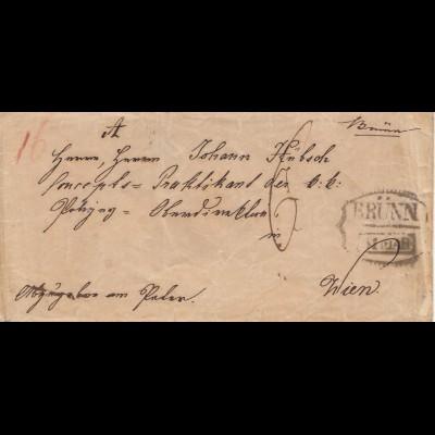Österreich: 18xx Brief von Brünn nach Wien