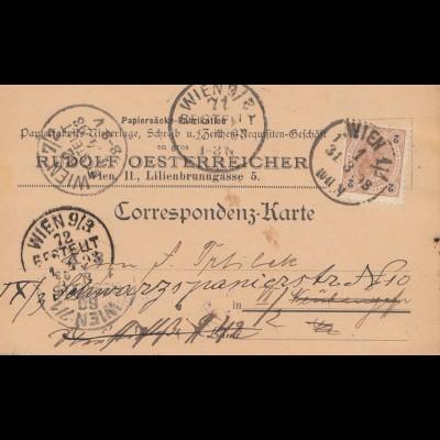 Österreich: 1893: Postkarte Wien