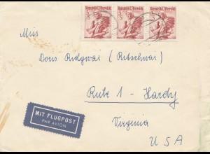 Österreich: 1969: Brief als Luftpost nach USA