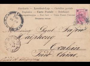 Österreich: 1902: Ansichtskarte nach Singapore