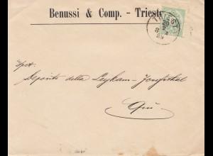 Österreich: 1889: Brief aus Triest