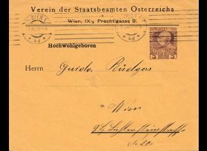 Österreich: 1908: Wien; Verein der Staatsbeamten
