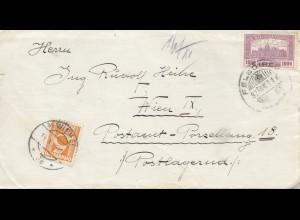 Österreich: 1925: Wien Felsdirek nach Porzelburg