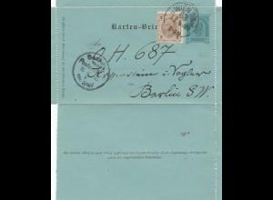 Österreich: 1895: Karten Brief von Wien nach Berlin