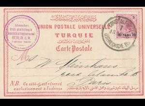 Ö-Levante: Erste internat. Ansichtskartengesellschaft Konstantinopel nach Paris
