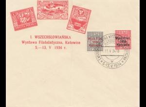 Polen: 1934: Katowice Wystawa Filatelistyczna