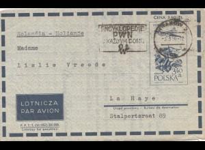 Polen: 1959: Krakow-Salwator als Luftpost nach Holland