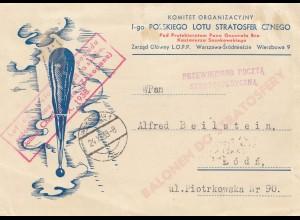 Polen: 1938: Ballonem Do Stratosfery nach Lodz