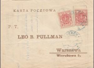 Polen: 1922: Lochow nach Warschau