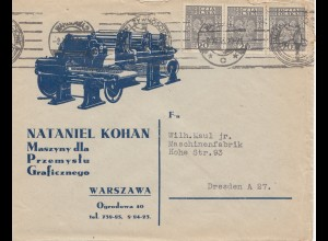 Polen: 1933: Warschau nach Dresden