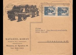Polen: 1932: Warschau nach Dresden Maschinenfabrik MeF