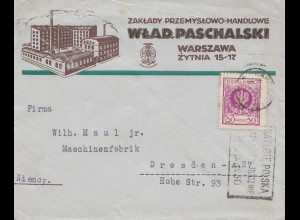 Polen: 1932: Warschau nach Dresden Maschinenfabrik