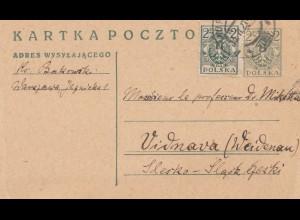 Polen: 1921: Warschau nach Weidenau