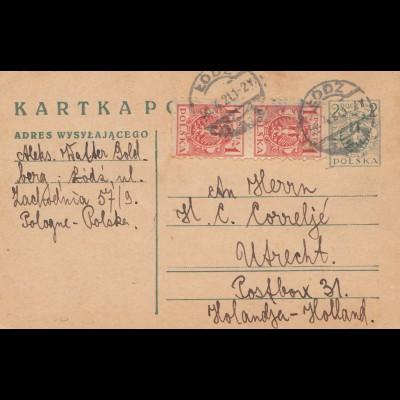 Polen: 1921: Lodz nach Utrecht