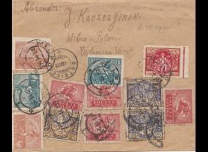 Polen: 1922: Dotzice Wilno nach Bern - Einschreiben