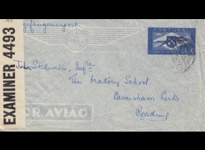 Portugal: 1941 Lufpost Kriegsgefangenenpost nach England
