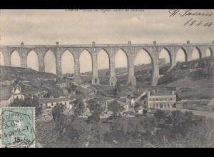 Portugal: 1904: Ansichtskarte Lisboa in die Schweiz