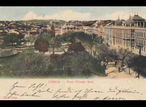 Portugal: 1903: Ansichtskarte Lisboa nach Neukirchen