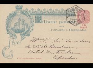 Portugal: 1898 Bilhete Postal Baseccao