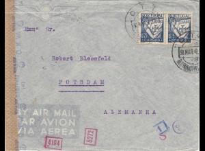 Portugal: 1942: Lisboa nach Potsdam- Luftpost Zensur
